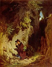 The GEOLOGIST, 19th century painting by Carl Spitzweg